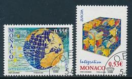 """MONACO Mi.Nr. 2799-2800 EUROPA CEPT  """"Integration """" 2006 - Used - 2006"""