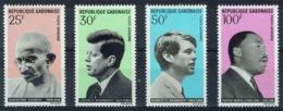 Gabon, Gandhi, Human Rights, JFK And MLK, 1969, MNH VF airmail Complete Set Of 4 - Gabon