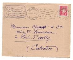 DOCUMENT Commercial ENVELOPPE 1941..Chaussures L. FICHEPOIL, Rue Paul Poirier à GRANVILLE ( Manche 50)..Recto Seul - France