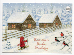 Postal Stationery CANCER FOUNDATION - FINLAND - Postage Paid  - GNOME & BULLFINCHES - STAMP GNOME & BULLFINCH - Finlandia