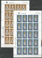 20x CYPRUS - MNH - Europa-CEPT - Famous People - Art - 1980 - Folded Sheets - Europa-CEPT
