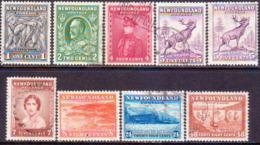 1932-38 NEWFOUNDLAND SG #222-28с Compl.set Incl. Var For 5c Used CV £18+ - 1908-1947