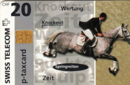 SWITZERLAND - Telecom Zürich Springreiten (Horse),02/97 ,tirage 3.560, 20 Fr, Used - Zwitserland