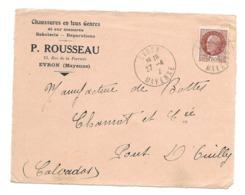 DOCUMENT Commercial ENVELOPPE 1942..Chaussures P. ROUSSEAU, Rue De La Perrière à EVRON ( Mayenne 53)..Recto Seul - France