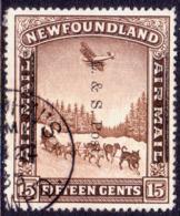 1933 NEWFOUNDLAND SG #229 15c Used CV £22 - 1908-1947