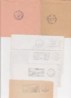 Lot 6 Lettres Departement 88 VOSGES : Machine SECAP Avec Couronne PP Port Paye TaD Manuel EPINAL NEUFCHATEAU - Postmark Collection (Covers)