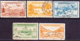 1933 NEWFOUNDLAND SG #230-34 Compl.set Used CV £325 Airmail - 1908-1947