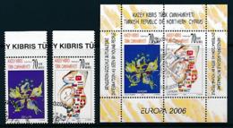 """TÜRKISCH - ZYPERN  Mi.Nr. 642-643 A, Block 25 A,  EUROPA CEPT """"Integration"""" 2006 - Used - 2006"""