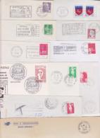 Lot 11 Lettres D' EPINAL Département 88 VOSGES : ( TàD Manuels Secap ) RP CT Entrepôt Direction GA Actel - Marcofilie (Brieven)