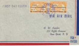 Costa Rica 1940 Aviacion Panamericana - Airmail Letter FDC - Costa Rica