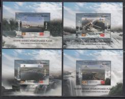 "2019 Uganda *NEW ISSUE** China Hydro Power Cooperation ""Belt & Road"" Complete Set  Of 4 Souvenir Sheets MNH - Oeganda (1962-...)"