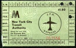 USA,J.F.K. Air Train Express Ticket,as Scan - Metro