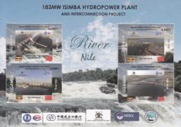 "2019 Uganda *NEW ISSUE** China Hydro Power Cooperation ""Belt & Road"" Miniature Sheet Of 4 MNH - Oeganda (1962-...)"