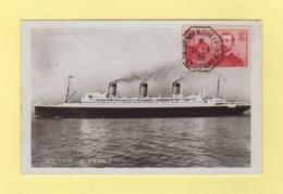 Croixiere Paquebot Ile De France - 24-4-1938 - Cpa Du SS Ile De France - Postmark Collection (Covers)