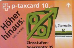 SWITZERLAND - Schweizerische Volksbank ,05/95 ,CN:525L 53400-68399 , Tirage 15.000, 5 Fr, Used - Zwitserland