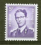 BELGIE Boudewijn Bril * Nr 1029a * Postfris Xx * WIT  PAPIER - 1953-1972 Lunettes