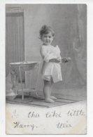 Little Girl Holding A Bath Sponge - Portraits