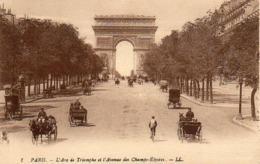 CP 75 Paris Arc De Triomphe Et L'avenue Des Champs-Elysées 1 LL - Arc De Triomphe