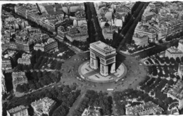 CP 75 Paris Arc De Triomphe L'étoile Place Avenues En Avion Sur 3507 Leconte - Arc De Triomphe