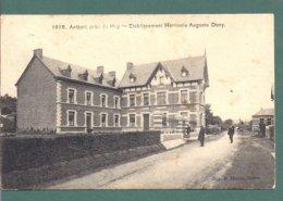 ANTHEIT Pres De HUY -etablissement Horticole Auguste Dony- Edit Hermans 1618- Oblit 1908- 2 Scans - Wanze