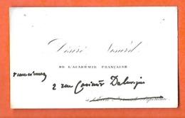 Carte De Visite  (8.5 X 5 Cm) / Désiré NISARD Ecrivain / Académie Française - Tarjetas De Visita