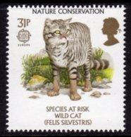 GREAT BRITAIN GB - 1986 EUROPA NATURE CONSERVATION WILD CAT 31p STAMP FINE MNH ** SG 1322 - 1952-.... (Elizabeth II)