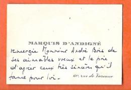 Carte De Visite  (8 X 5.5 Cm) / Marquis D'ANDIGNE / PARIS - Tarjetas De Visita