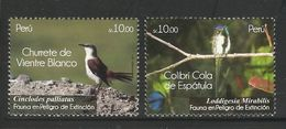 PERU  2011  BIRDS  SET   MNH - Pájaros