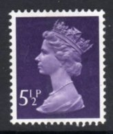 GREAT BRITAIN GB - 1975 5 1/2p MACHIN STAMP CENTRE PHOSPHOR BAND FINE MNH ** SG X869 - Machins