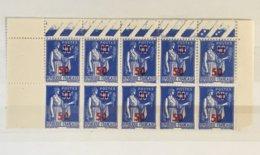 Timbres France YT 482 (**) 1940 Bloc De 10 Type Paix 50 Sur 90c Bleu (côte Détachés 2 Euros) – 173 - Ongebruikt
