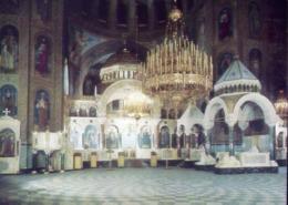 Sofia - Alexander - Nevski - Gedachtniskirche Dasx Zentralaltarwand Die Kanzel Und Die Zwei Throne - Formato Grande Non - Bulgarie