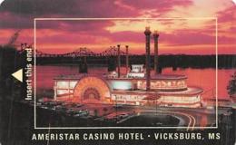 Ameristar Casino - Vicksburg MS - Hotel Room Key Card - Cartas De Hotels