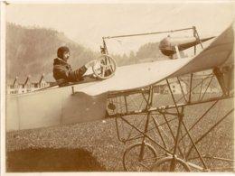 Aviation - Aviateur Georges Cailler à Broc - 1910 - Superbe Et  Rarissime - Aviación