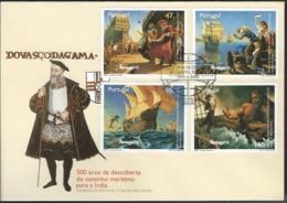 Portugal. Scott # 2136-39 FDC. Discovery Of Maritime Route To India 500th Anniv. Vasco Da Gama 1996 - Esploratori