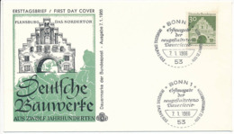 FDC Mi 492 - 7 January 1966 - Flensburg Nordertor Architecture - [7] Federal Republic