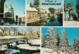 Dep 25 , Cpm  PONTARLIER , En Hiver , C. 23032 , Multivues  (1277) - Pontarlier