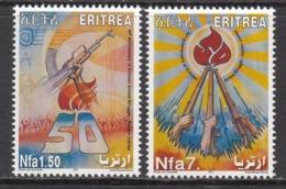 2011 Eritrea Armed Struggle Anniversary Guns  Complete Set Of 2 MNH - Eritrea