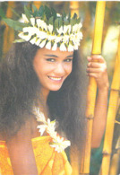 @ Polynésie Française-( Vahiné Femme Sourire Fleur Fleurs Jeune Tahitienne ) - Polynésie Française