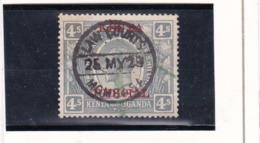 Timbre Fiscal-Revenue Stamp Kenya & Uganda 4 S - Kenya, Uganda & Tanganyika