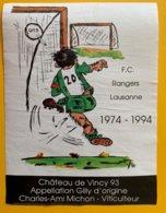 11957 - FC Rangers Lausanne 1974-1994 Suisse - Soccer