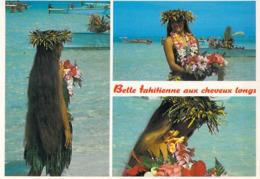 @ Polynésie Française- Belle Tahitienne Aux Cheveux Longs  (fleur Fleurs) -TEVA SYLVAIN 736 Tahiti - Polynésie Française