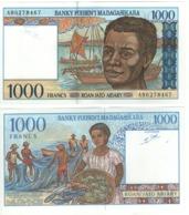 MADAGASCAR  1'000 Francs      P76b   ND 1994 UNC. - Madagascar