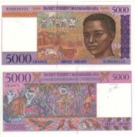 MADAGASCAR  5'000 Francs      P78b   ND 1994 UNC. - Madagascar