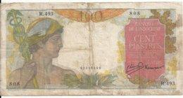 INDOCHINE 100 PIASTRES ND1947-54 VG+ P 82 - Indochine
