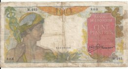 INDOCHINE 100 PIASTRES ND1947-54 VG+ P 82 - Indochina
