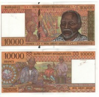 MADAGASCAR  10'000 Francs      P78b   ND 1994 UNC. - Madagascar