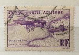 Timbre France Poste Aérienne YT 7 (°) 1934, 2f25 Lilas Traversée De La Manche Louis Blériot (côte 7 Euros) – 183y - 1927-1959 Afgestempeld