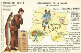 CPA Emulsion SCOTT Marne - Landkaarten