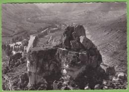 Belle CPSM PEYRELEAU Rocher De Capluc 12 Aveyron Cachet Perlé Hexagone Le Rozier Lozere - Altri Comuni