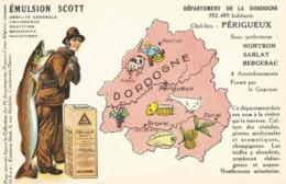 CPA Emulsion SCOTT Dordogne - Landkaarten